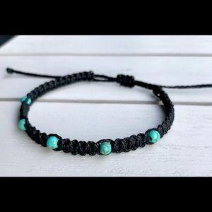 $5 BUNDLED🔮Turquoise Howlite Beads Waxed Bracelet